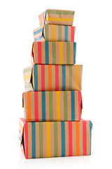 Colorful wrapped presents