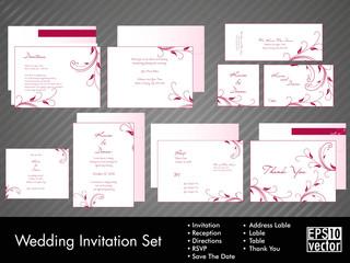 A complete wedding Invitation kit