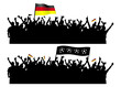 Jubelnde Fans Deuschland