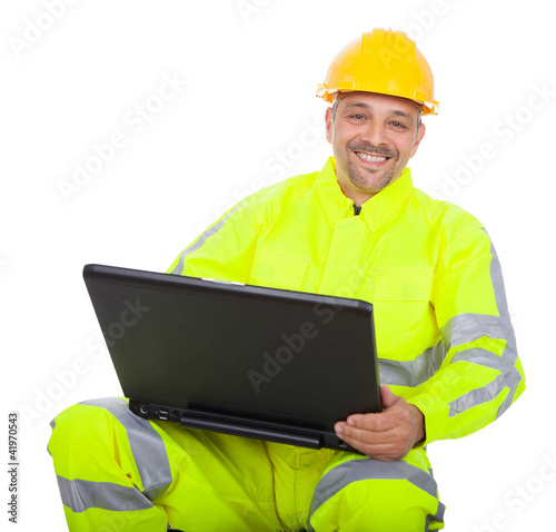 Portrait of worker in safety jacket