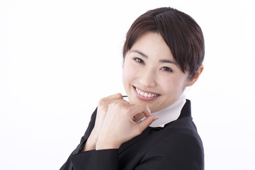 A Japanese young businesswoman