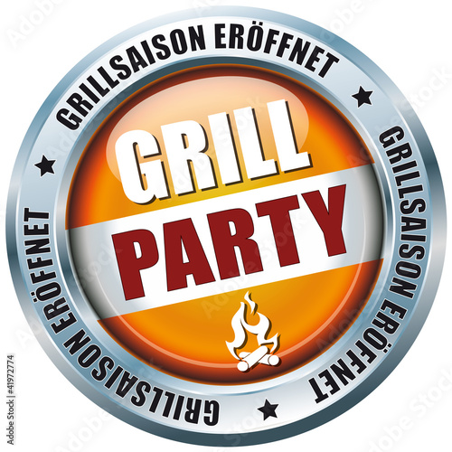 Grill Party - Grillsaison eröffnet - Button