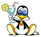 Penguin with Cocktail