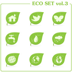 Vector ecology icon set. Vol. 3