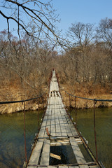 Old hanging bridge