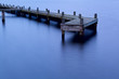 old wooden pier at dusk