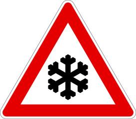Verkehrszeichen 113 Schnee- oder Eisglätte