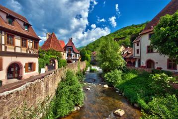 Rivière Vosgienne à kaysersberg , Alsace (Fr)