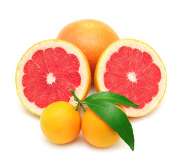 mandarine and grapefruit