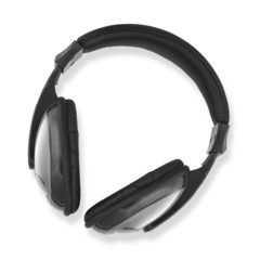 headphones white background