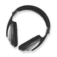 headphones white background