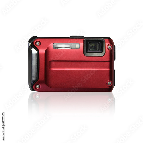 compact camera white background