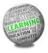 Learning and education concept in word tag cloud
