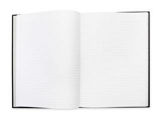 open book white background