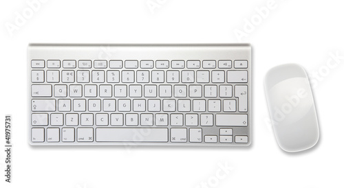 keyboard mouse white background