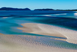 White sand in Whitsunday Island