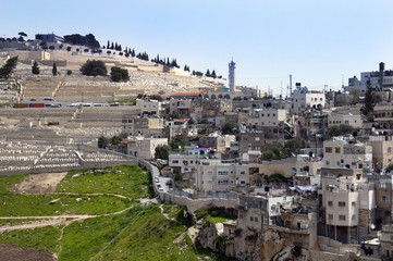 Palestinian village and a Muslim cemetery