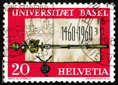 Postage stamp Switzerland 1960 Founding Charter and Scepter of U