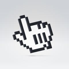 3d black cursor icon