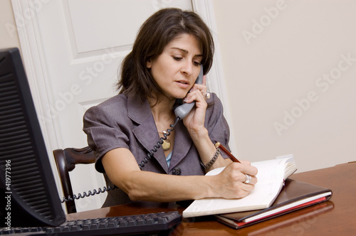 Businesswoman in home office
