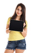 Teen girl with tablet PC