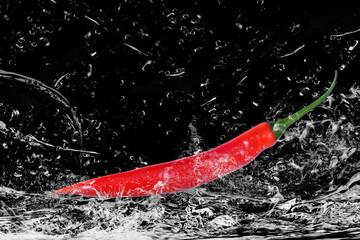 Chili rot, Wasserspritzer