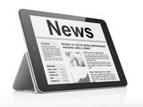 Digital news on tablet pc computer screen