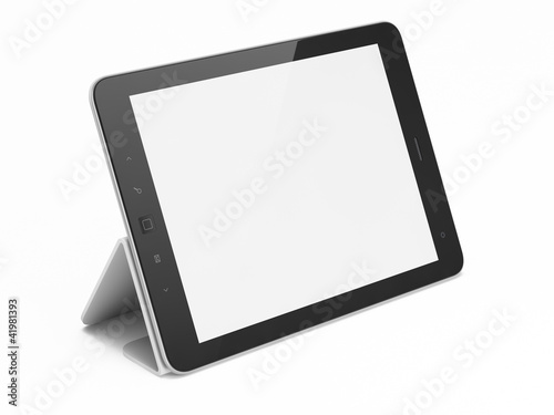 Black abstract tablet computer (pc) on white background - 41981393
