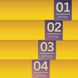 Option banner vector background