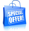shopping bag SPECIAL OFFER, blue