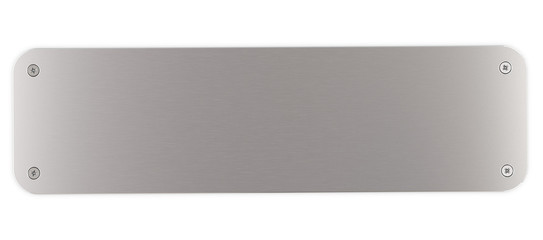 plaque métal aluminium rectangulaire et vis