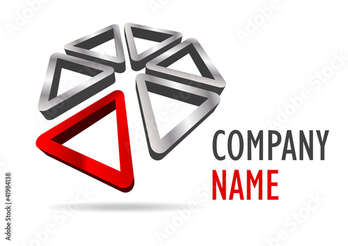 Company business 3D logo triangle desing