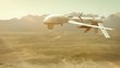 Military drone (UAV) seeking enemies
