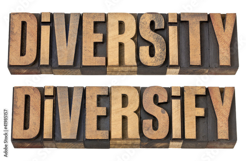 diversity and diversify words in wood type