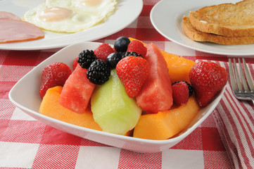 Fruit salad breakfast