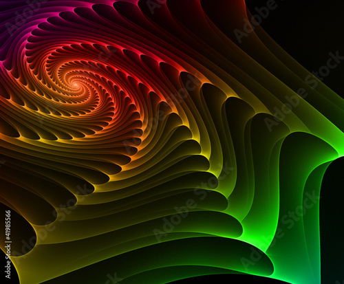 Colourful wave on dark background