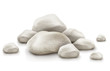 pile of stone isolated on white background. Vector