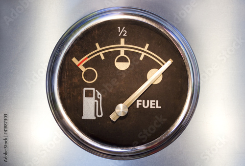 Fuel gauge showing full