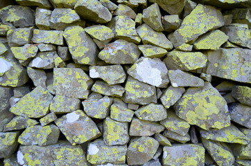 Abstract Background Texture Of Traditional Stone Wall