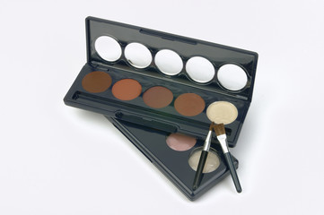 multi colored make-up palette