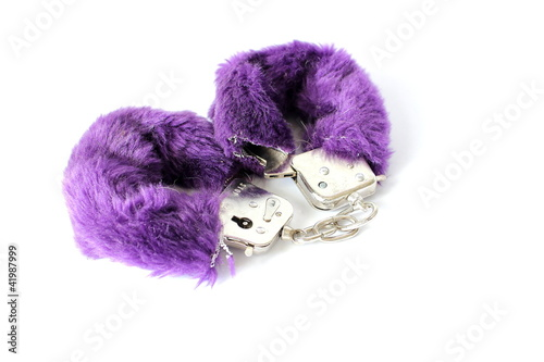 Purple Fuzzy Handcuffs