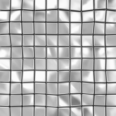 Abstract Background of Metal Cubes