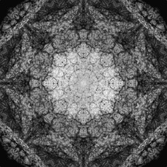 Symmetrical pattern to the background or poster.