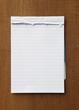 tear paper note
