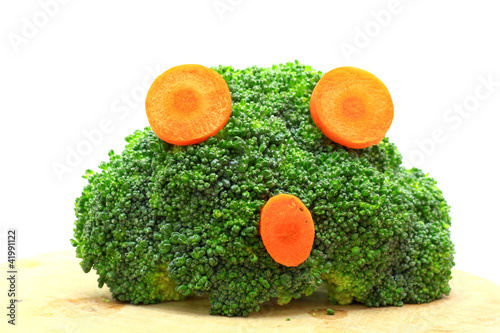 Fresh broccoli and carrot concept agape