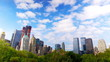 Manhattan skyline from Central Park time lapse, New York City