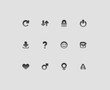 Interface icons for signs