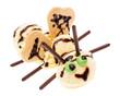 Biene aus Vanilleeis mit Flügel, Augen und Fühler