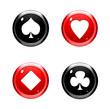 Bouton symbole de carte