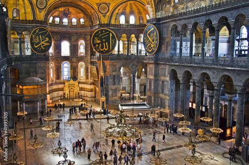 Nef de la basilique Sainte Sophie, Istambul - Turquie Poster